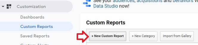 new custom report google analytics
