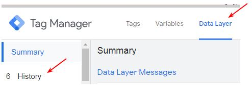 data layer history