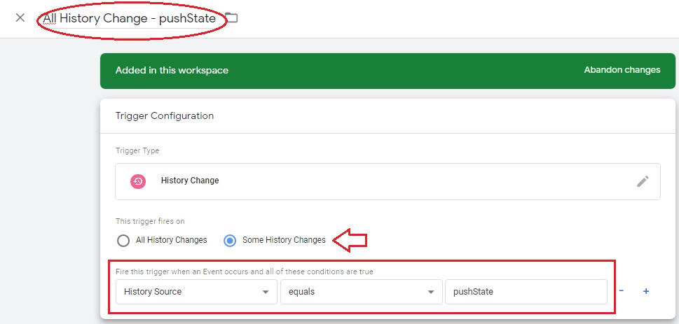 pushState google tag manager