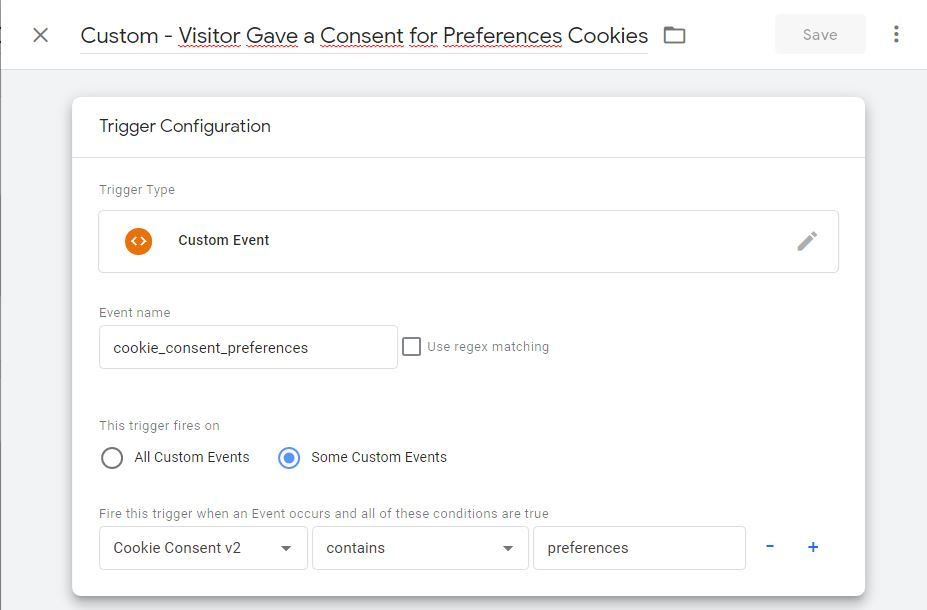 preferences cookie