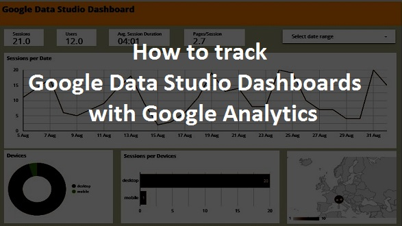 how to track data studio dashboards with google analytics
