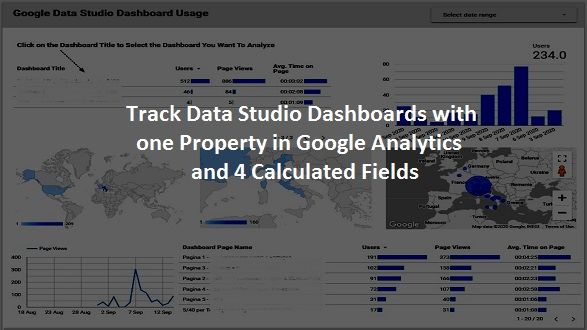 Track Data Studio Dashboards with one Property in Google Analytics and 4 Calculated Fields