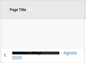 page title with one page