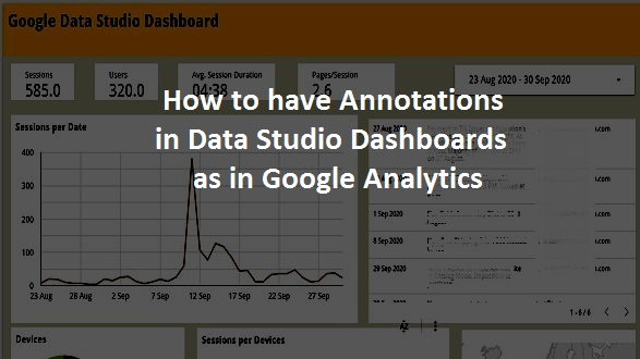 how to have annotations in data studio dashboards as in google analytics