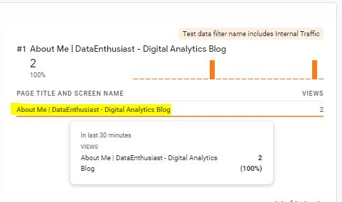 filtro del traffico interno in analytics 4