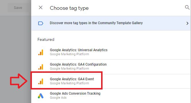 google analytics 4 event tag