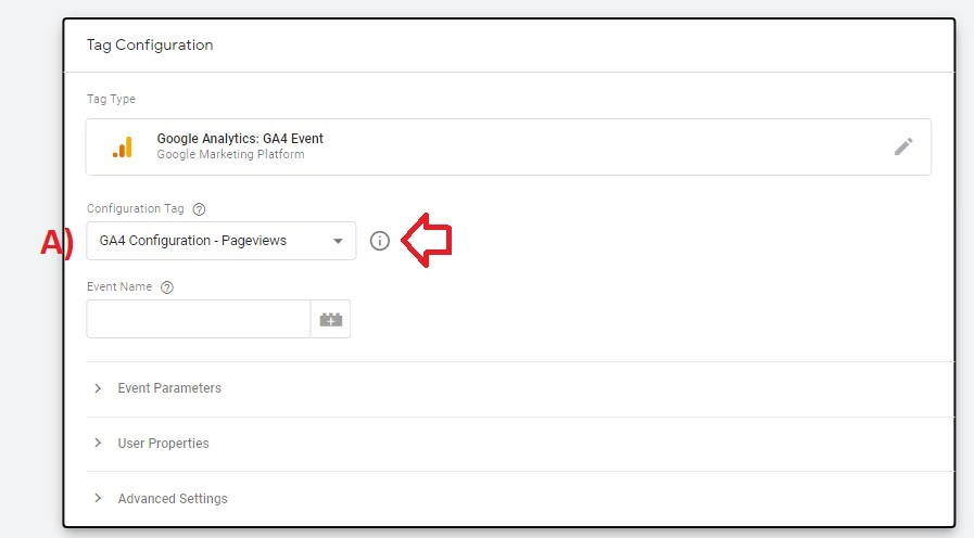 configuration tag google analytics 4