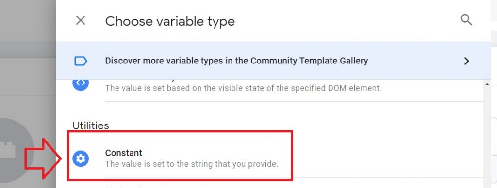 variabile constant google tag manager