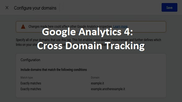 cross domain tracking google analytics 4