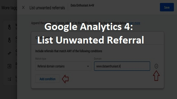 google analytics 4 list unwanted referrals