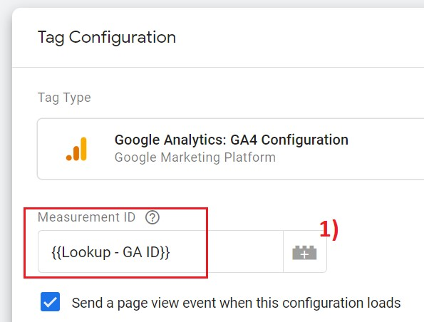 google analytics 4 variable gtm